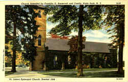 Church Attended By Franklin D. Roosevelt And Family Postcard