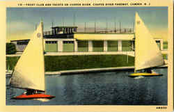 Yacht Club And Yachts On Cooper River Postcard