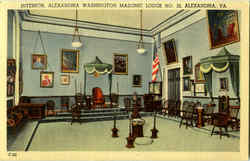 Interior Alexandria Washington Masonic Lodge