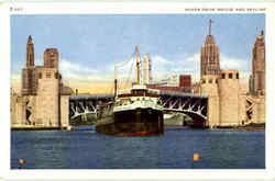 Outer Drive Bridge And Skyline Postcard