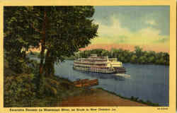 Excursion Steamer On Mississippi River