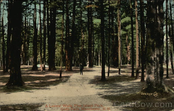 A Lovers' Walk, Piut Island Park, Goffs Falls Manchester New Hampshire