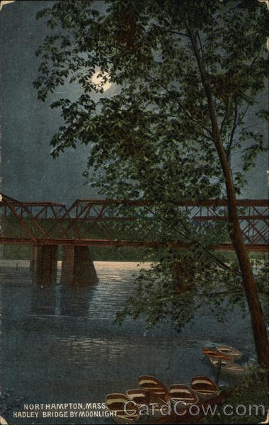 Hadley Bridge by Moonlight Northampton Massachusetts