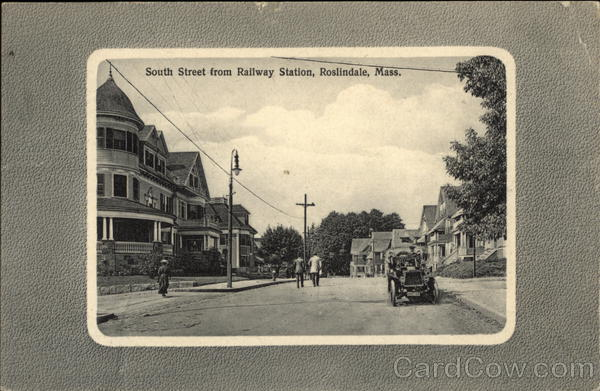 South Street from Railway Station Roslindale Massachusetts