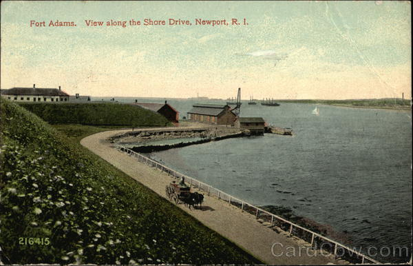 Fort Adams - View along the Shore Drive Newport Rhode Island