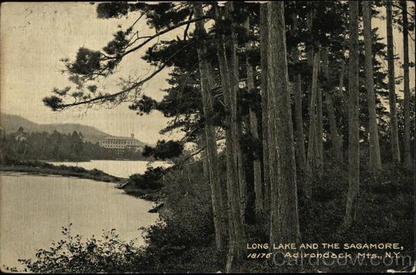Long Lake and the Sagamore Adirondack Mountains New York