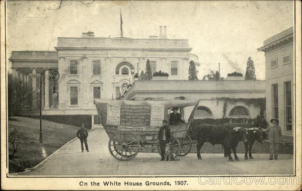 On the White House Grounds, 1907 Washington District of Columbia