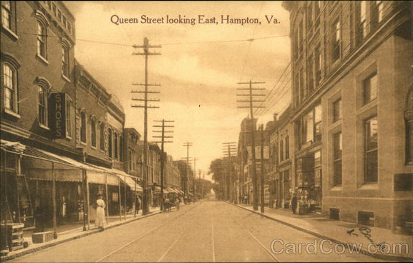 Queen Street Looking East Hampton Virginia