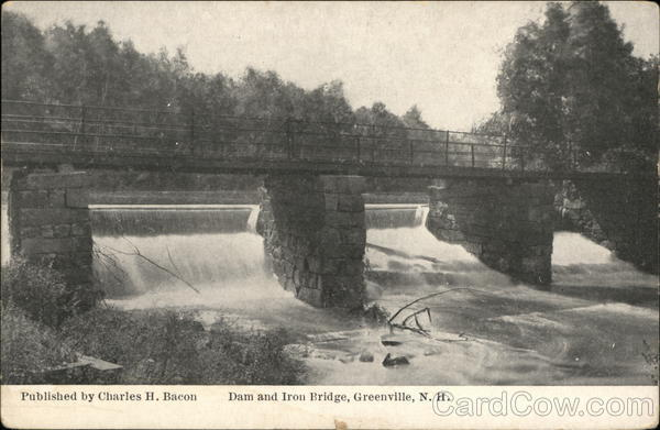 Dam and Iron Bridge Greenville New Hampshire