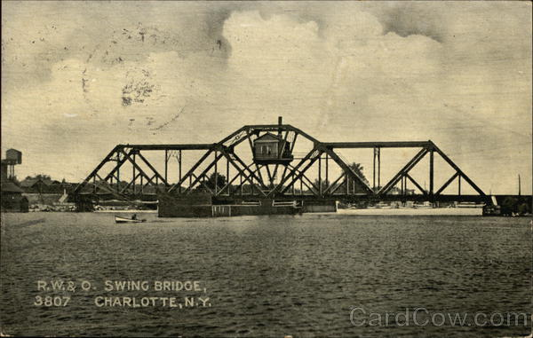 R.W. & O. Swing Bridge Charlotte New York