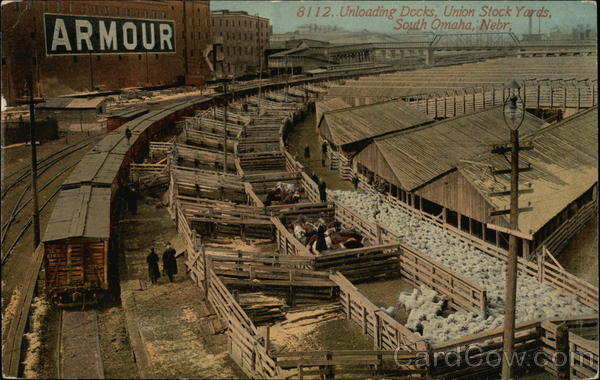 Unloading Docks, Union Stock Yards South Omaha Nebraska