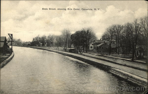 State Street, Showing Erie Canal Canastota New York