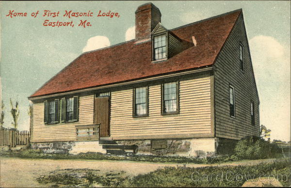 Home of First Masonic Lodge Eastport Maine