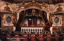 "The London Coliseum ""Royal Box"" Postcard"