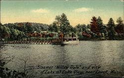 "Steamer ""Willow Lake"" and View of Lake"