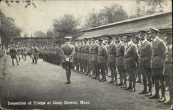Inspection of Troops at Camp Devens