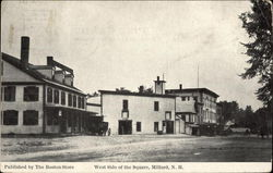 West Side of the Square Postcard