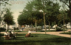 The Park and Fountain Postcard