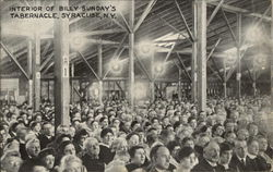 Interior of Billy Sunday's Tabernacle