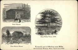 First Church, First School House, King Philip Trees
