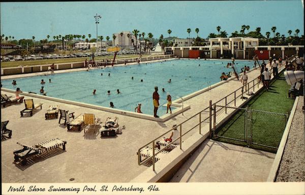 north shore swimming pool st petersburg fl postcard