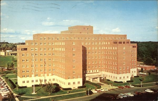 Sunny Day At The Veterans Administration Hospital Ann Arbor Michigan