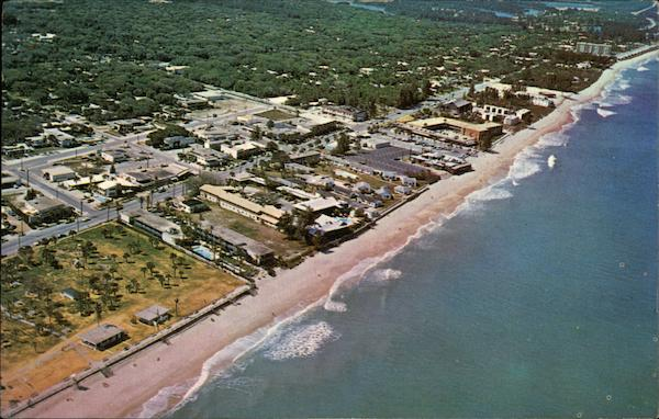 Aerial View of the Beautiful Ocean Front Vero Beach Florida