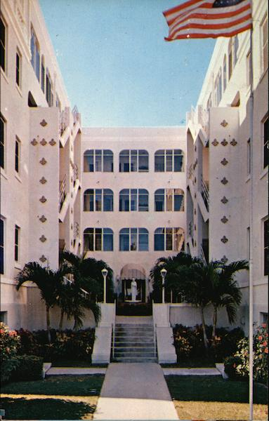 Lourdes Residence Court Yard and Entrance West Palm Beach Florida