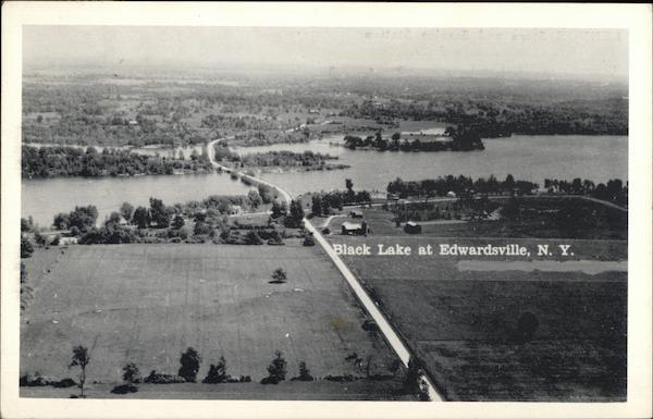 Aerial View of Black Lake Edwardsville New York