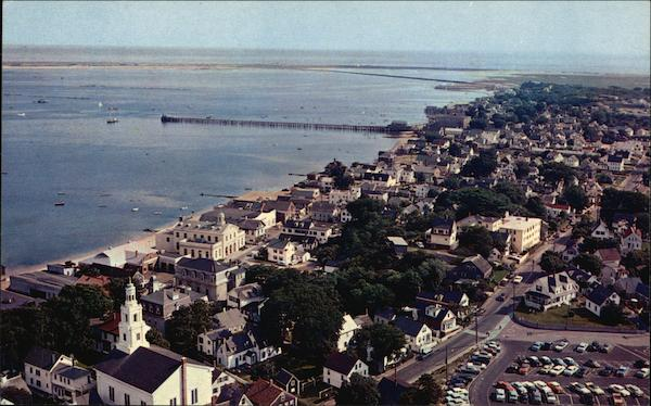 Provincetown From Top of Pilgrim Monument Cape Cod Massachusetts