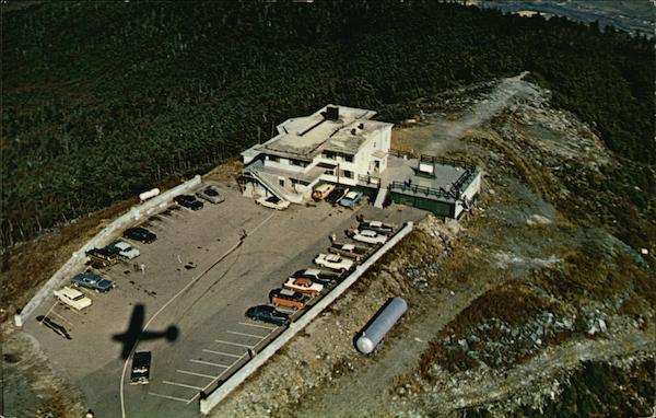 Aerial View of Sky Line Inn and Parking Area Manchester Vermont