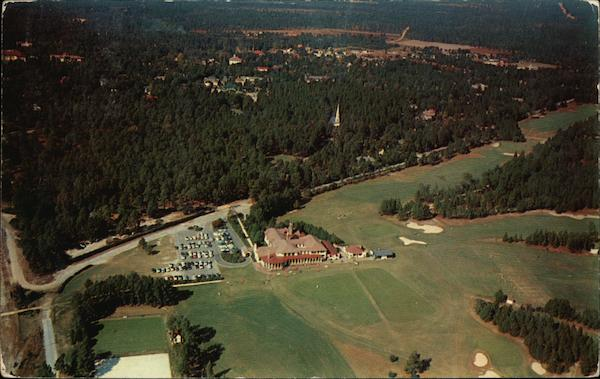 Airview of the Pinehurst Country Club North Carolina