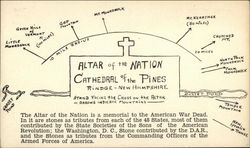 Cathedral of the Pines - Altar of the Nation Postcard