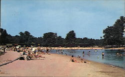 Beach Scene at Silver Lake State Park