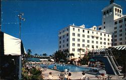 Pool at the Exclusive Palm Beach Biltmore Hotel Postcard