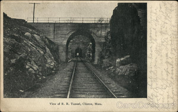View of R.R. Tunnel Clinton Massachusetts