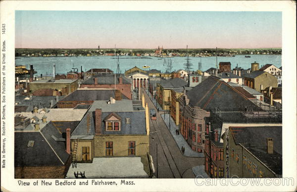 View of New Bedford and Fairhaven Massachusetts