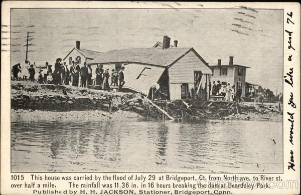 Damaged House From Flood Bridgeport Connecticut