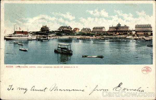 Appledore Hotel and Landing Isles of Shoals New Hampshire
