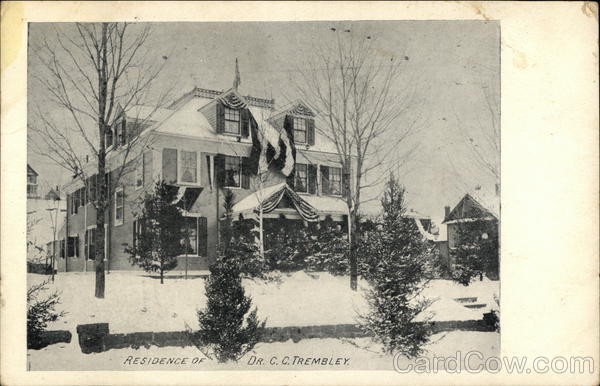 Residence of Dr. C.C. Trembley Albany New York