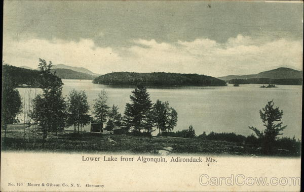 Lower Lake from Algonquin Adirondack Mountains New York