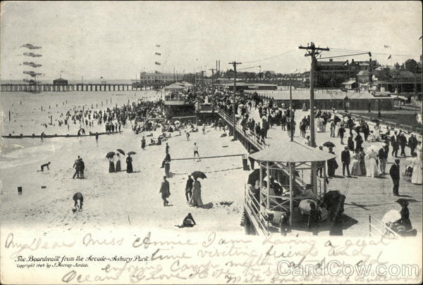 The Boardwalk from the Arcade Asbury Park New Jersey
