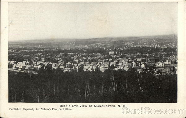 Bird's Eye View of Town Manchester New Hampshire