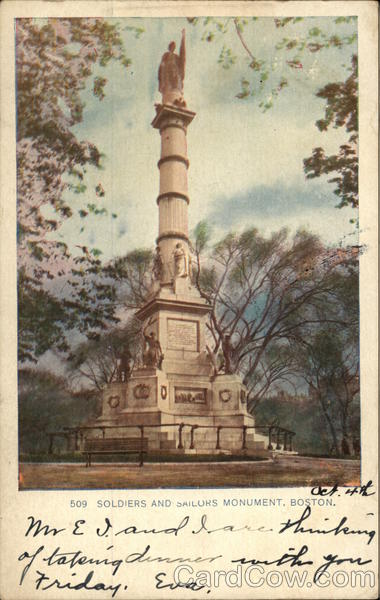 Soldiers and Sailors Monument Boston Massachusetts