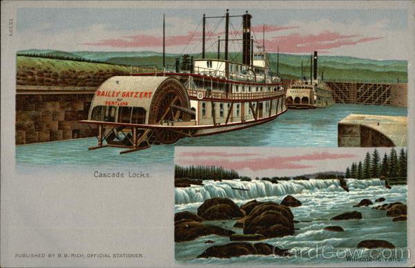 Cascade Locks Willamette Falls Oregon 1905 Lewis & Clark Exposition