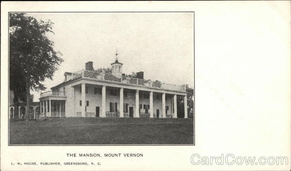 The Mansion, Mount Vernon Alexandria Virginia Years