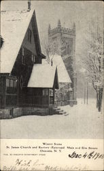 Winter Scene, St. James Church and Rectory