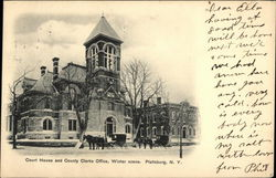 Court House and County Clerks Office - Winter Scene