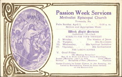 Passion Week Services, Methodist Episcopal Church
