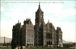 The Unihalle or United City and County Building Postcard